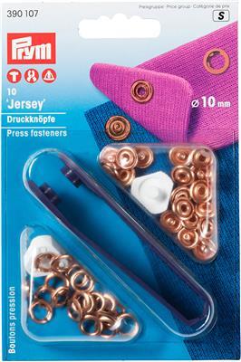 Jersey  drukknopen koper 10mm