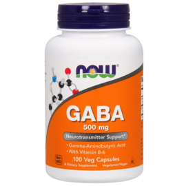 Now Foods, GABA, 500 mg, 100 vegetarische capsules
