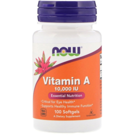 Now Foods, Vitamine A 10.000 IE, 100 softgels