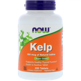 Now Foods, Kelp, 150 mcg  jodium, 200 vegetarische tabletten