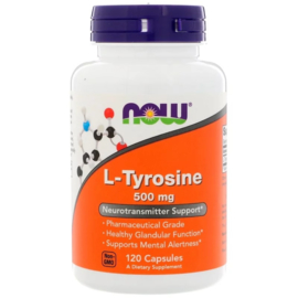 Now Foods L-Tyrosine 500 mg , 120 capsules