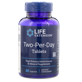 "Life Extension ""Two-Per-Day""  multivitamine, 60 tabletten"