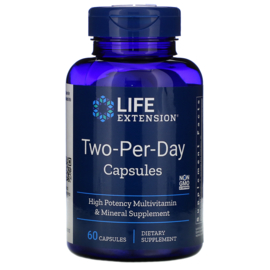 "Life Extension ""Two-Per-Day""  multivitamine, 60 capsules"