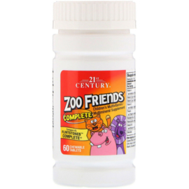 21st Century Zoo Friends Compleet, kindermultivitamine, 60 kauwtabletten