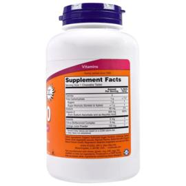 Now Foods Chewable Vitamine C-500, sinaasappel smaak, met bioflavonoïden, 100 kauwtabletten,  voor vegetariërs en veganisten
