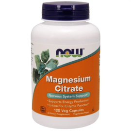 Now Foods, Magnesium Citraat, 120 vegetarische capsules