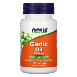 Now Foods, Garlic Oil, Knoflookolie, 1500 mg, 100 softgels