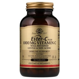 Solgar Ester-C, 1000 mg met 200 mg bioflavonoïden, 90 tabletten, voor vegetariërs en veganisten