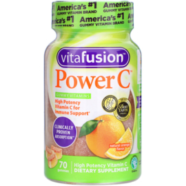 Vitafusion Power C, 70 gummies, 94 mg vitamine C met rozebottel