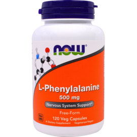 Now Foods, L-Phenylalanine 500 mg , 120 vegetarische capsules