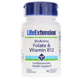 Life Extension, BioActieve, Foliumzuur & Vitamine B12, 90 vegetarische capsules