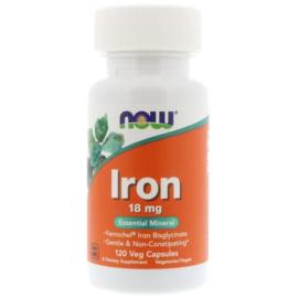 Now Foods, IJzer Bisglycinaat, 18 mg, 120 vegetarische capsules