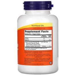 Now Foods, Teunisbloemolie, 1000 mg, 90 vegetarische softgels, biologisch, koudgeperst, voor vegetariërs en veganisten