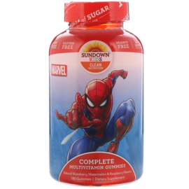 "Sundown kindermultivitamine,  vanaf 2 jaar, 180 multigummies ""Spiderman"""