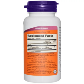 Now Foods Astaxanthine, 10 mg , 60 vegetarische softgels