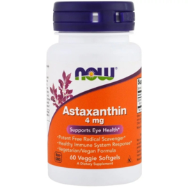 Now Foods, Astaxanthine, 4 mg, 60 vegetarische softgels