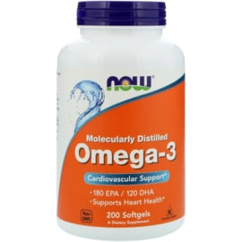 Now Foods, Omega 3, 180 EPA/120 DHA, 200 Softgels