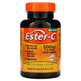 American Health, Ester-C 500 mg met 200 mg citrus bioflavonoïden, 120 vegetarische capsules