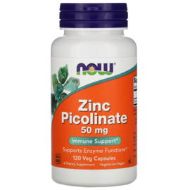 Now Foods Zink Picolinaat 50 mg, 120 vegetarische capsules