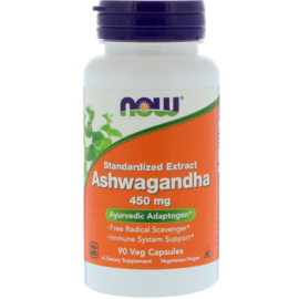 Now Foods Ashwagandha, 450 mg ,  90 vegetarische capsules