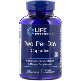 "Life Extension ""Two-Per-Day""  multivitamine, 120 capsules"