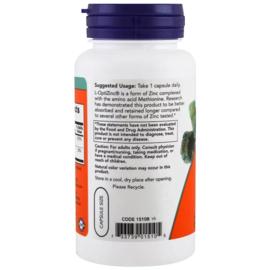 Now Foods, L-OptiZink, 30mg (met 0,3mg koper), 100 vegetarische capsules