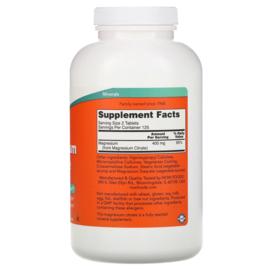 Now Foods Magnesium Citraat, 200 mg, 250 vegetarische tabletten