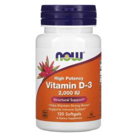 Now Foods, Vitamine D3 2000 IE, 120 softgels van rundergelatine