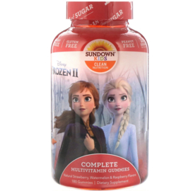 "Sundown kindermultivitamine,  vanaf 2 jaar, 180 multigummies ""Disney Frozen"""