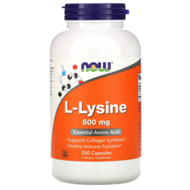 Now Foods L-Lysine 500 mg , 250 capsules