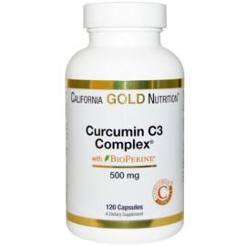 California Gold Curcumine C3 Complex met bioperrine, 120 capsules