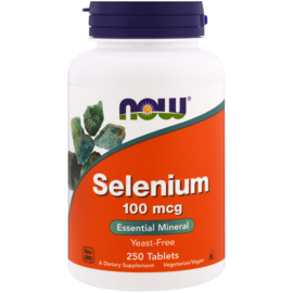 Now Foods Selenium, 100 µg, 250 vegetarische tabletten
