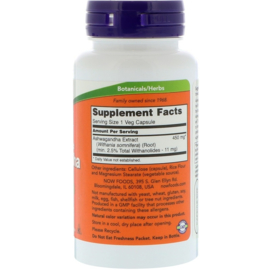 Now Foods Ashwaghanda 450 mg ,  90 vegetarische capsules