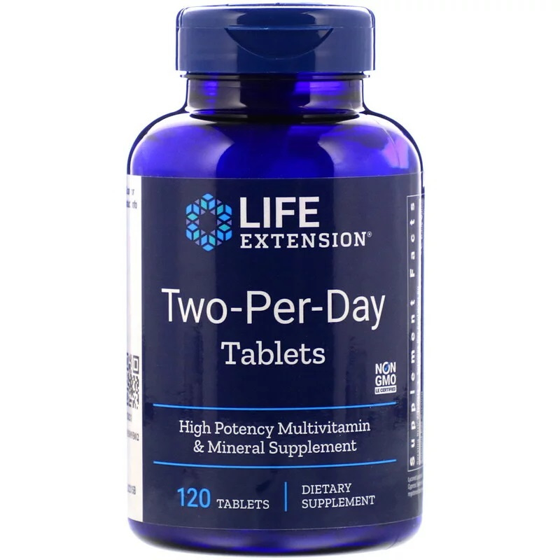 "Life Extension,""Two-Per-Day""  multivitamine, 120 tabletten"
