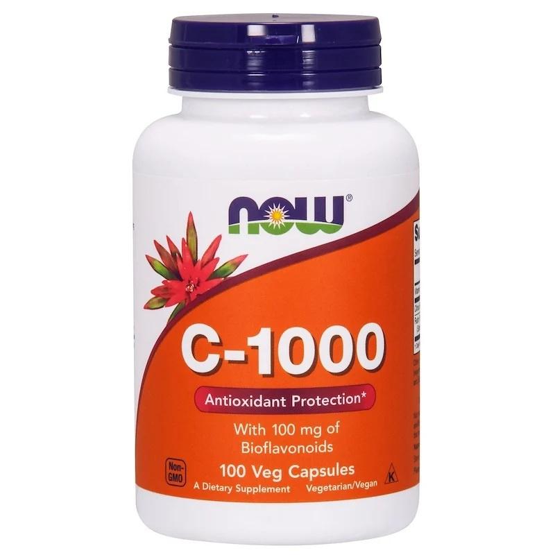 Now Foods, Vitamine C-1000, Met 100 mg Bioflavonoïden, 100 Vegetarische Capsules