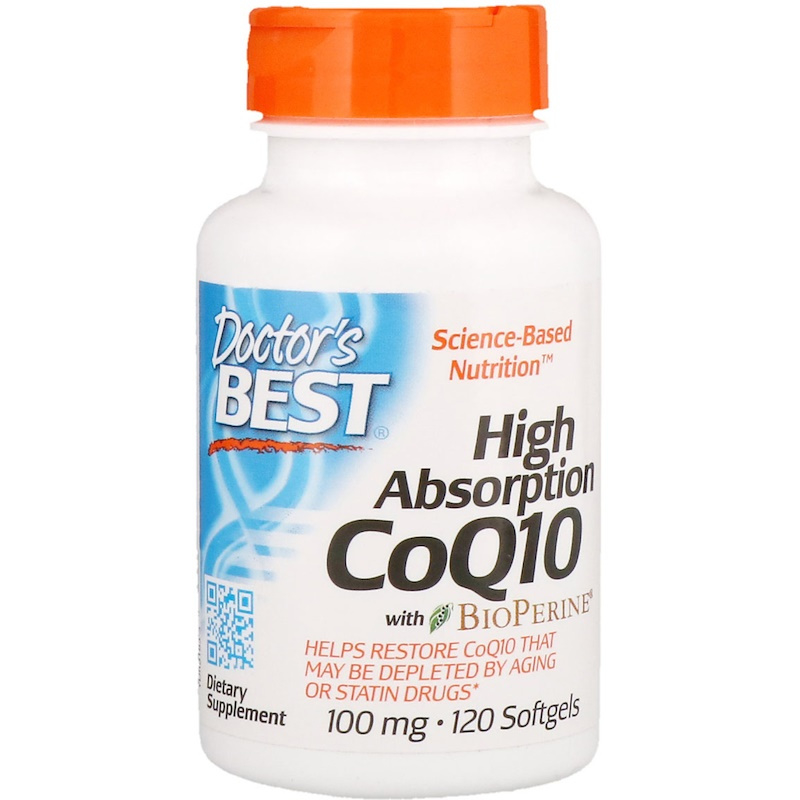 Doctor's Best High Absorbtion Co-enzym Q10, 100 mg met bioperine, 120 vegetarische capsules