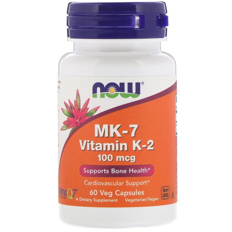 Now Foods, MK-7 Vitamine K-2 100 mcg, 60 vegetarische capsules