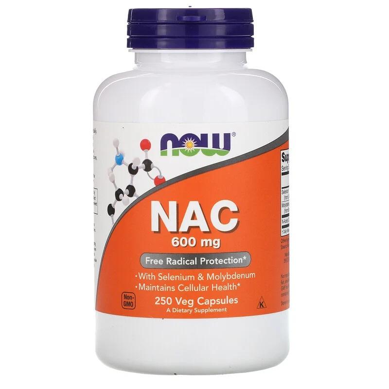 Now Foods, NAC, 600 mg, 250 vegetarische capsules