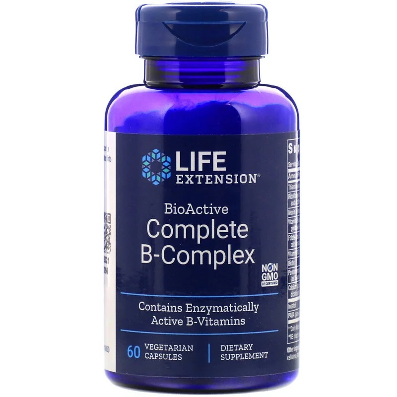 Life Extension, Bio-Actief Compleet B-Complex, 60 vegetarische capsules