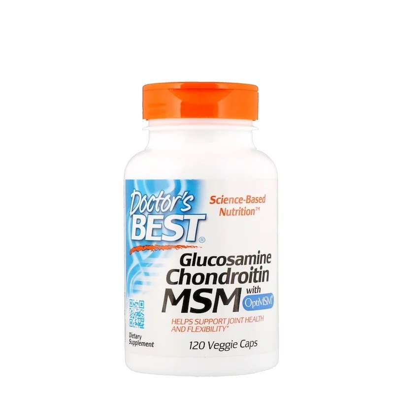 Doctor's Best Glucosamine, Chondroïtine & MSM, 120 capsules