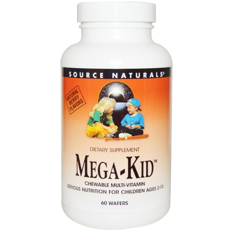 Source Naturals Kindermulti, 60 pastilles met frambozensmaak (voor 60 dagen)