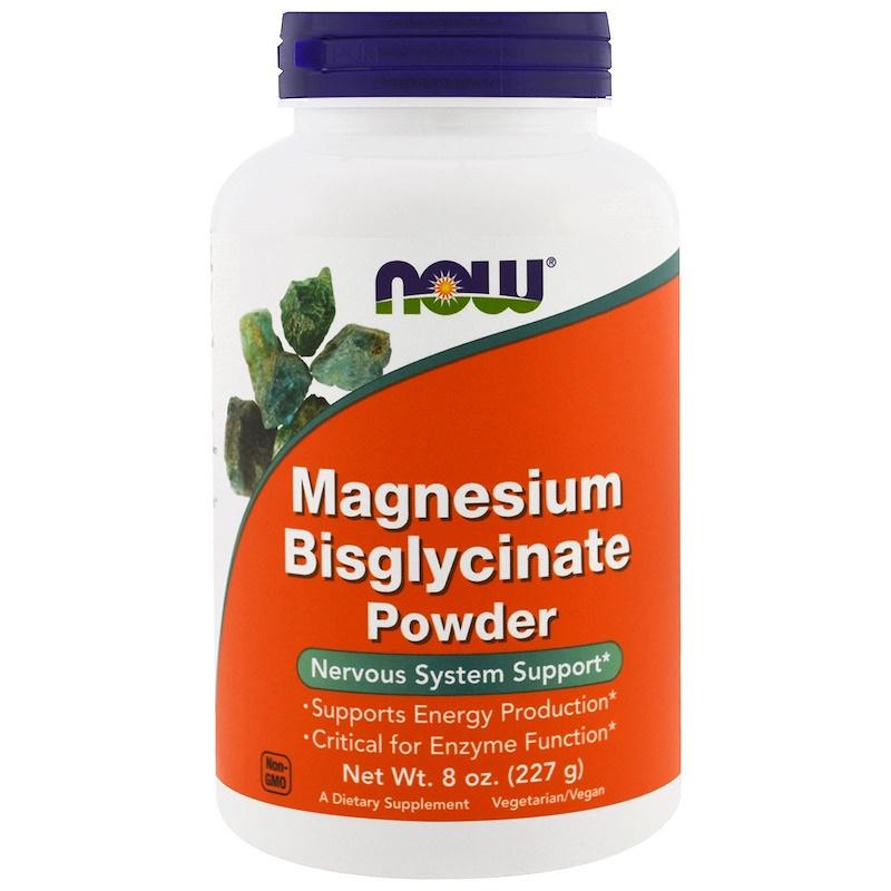 Now Foods, Magnesium Bisglycinaat Poeder, 227 gram zuivere chelaat,  voor vegetariërs en veganisten