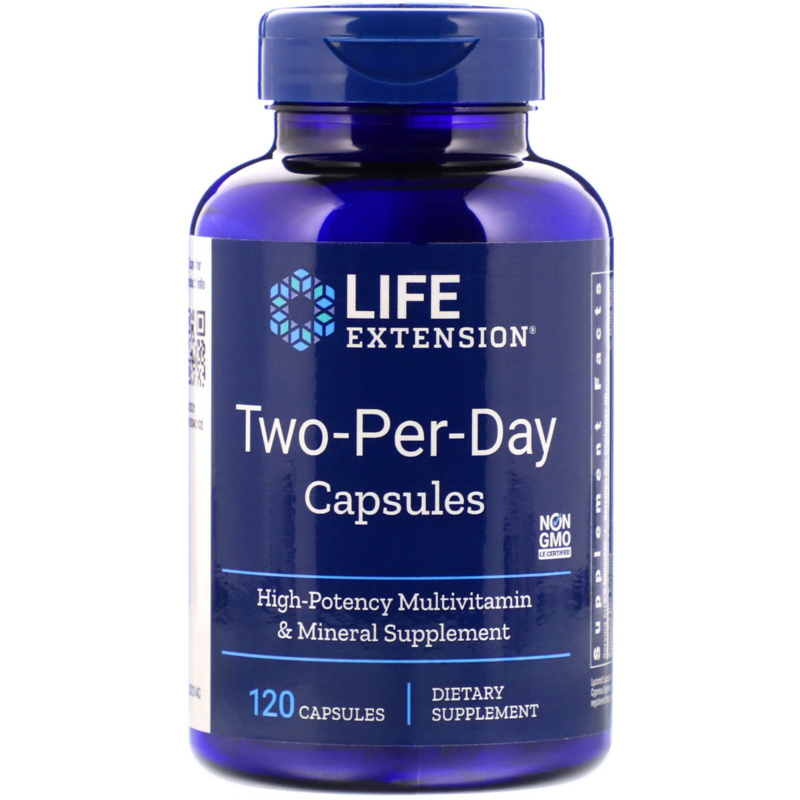 "Life Extension, ""Two-Per-Day""  multivitamine, 120 capsules"