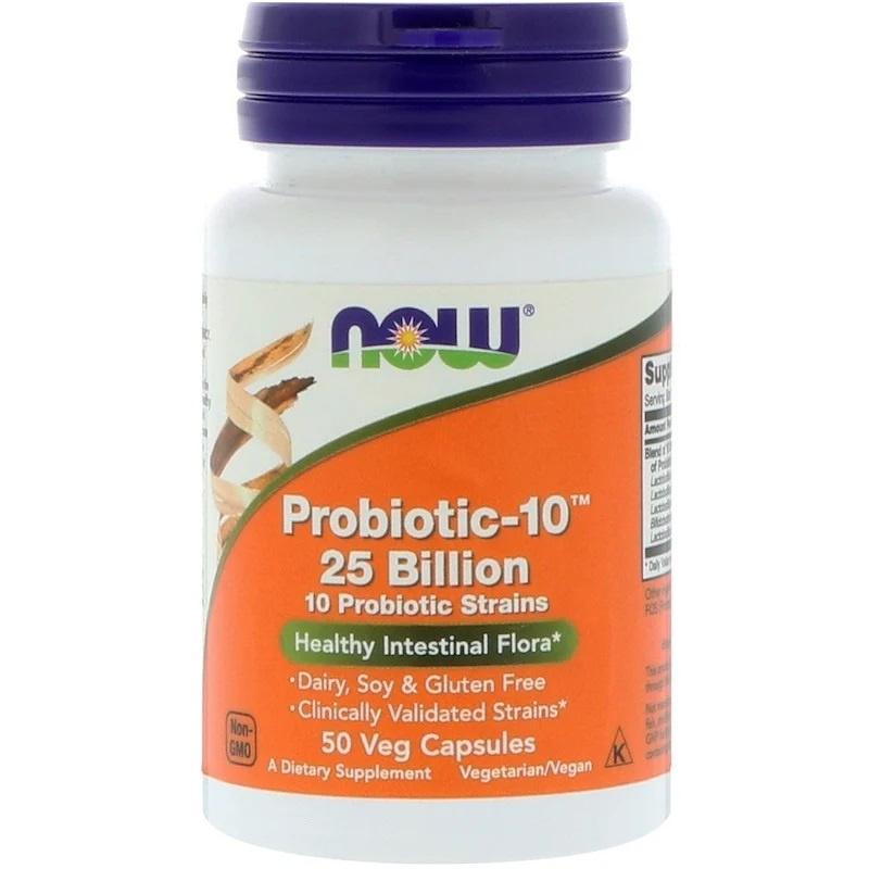 Now Foods, Probiotic-10, 25 miljard, 50 vegetarische capsules