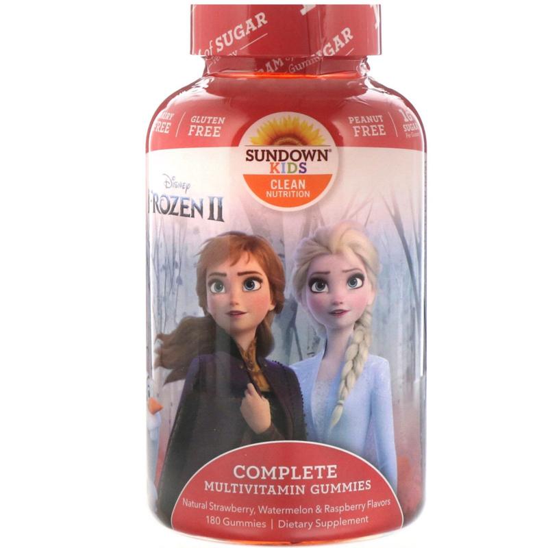 "Sundown, kindermultivitamine,  vanaf 2 jaar, 180 multigummies ""Disney Frozen"""
