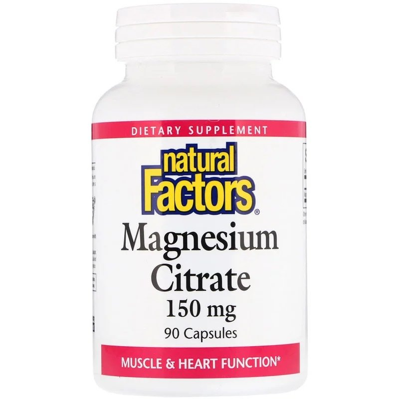 Natural Factors, Magnesium Citraat, 150 mg, 90 capsules