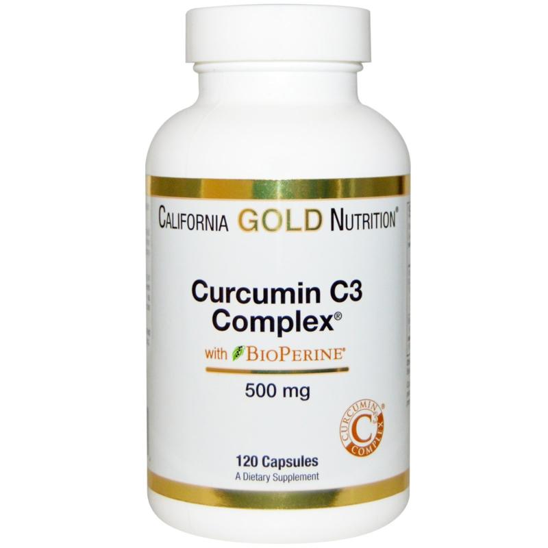 California Gold, Curcumine C3 Complex met bioperrine, 500 mg, 120 vegetarische capsules