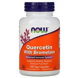Now Foods Quercetine met Bromelaïne, 120 vegetarische capsules