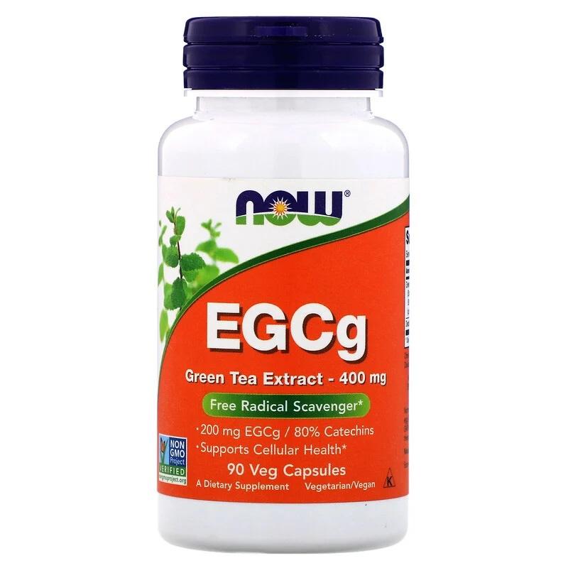 Now Foods, EGCg Green Tea Extract, 400 mg, 90 vegetarische capsules, Groene Thee met een hoog gehalte aan EGCg