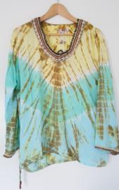 Blouse Tie Dye Brown - XL